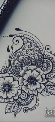 Фото тату рисунки хной (tattoo of henna) (значение) — пример рисунка — 002 tatufoto.com