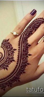 Фото тату рисунки хной (tattoo of henna) (значение) — пример рисунка — 009 tatufoto.com 2342