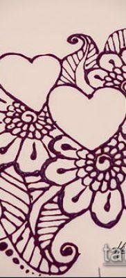 Фото тату рисунки хной (tattoo of henna) (значение) – пример рисунка – 016 tatufoto.com