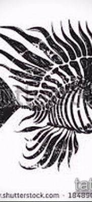 Фото тату скелет рыбы – пример рисунка – 30052017 – пример – 002 Fish skeleton tattoo