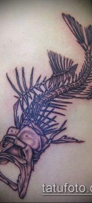 Фото тату скелет рыбы – пример рисунка – 30052017 – пример – 003 Fish skeleton tattoo