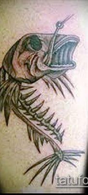 Фото тату скелет рыбы – пример рисунка – 30052017 – пример – 018 Fish skeleton tattoo