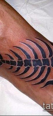 Фото тату скелет рыбы – пример рисунка – 30052017 – пример – 023 Fish skeleton tattoo