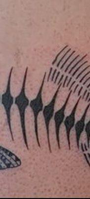 Фото тату скелет рыбы – пример рисунка – 30052017 – пример – 025 Fish skeleton tattoo