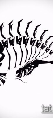 Фото тату скелет рыбы – пример рисунка – 30052017 – пример – 030 Fish skeleton tattoo