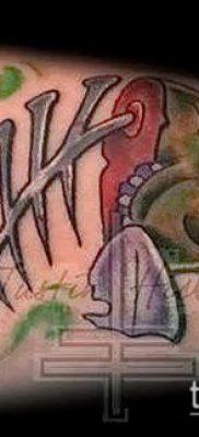 Фото тату скелет рыбы – пример рисунка – 30052017 – пример – 031 Fish skeleton tattoo