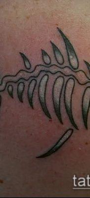 Фото тату скелет рыбы – пример рисунка – 30052017 – пример – 035 Fish skeleton tattoo