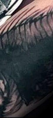 Фото тату скелет рыбы – пример рисунка – 30052017 – пример – 045 Fish skeleton tattoo