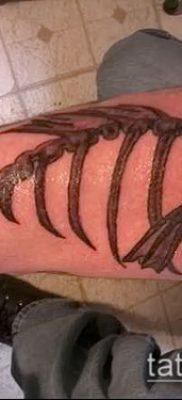 Фото тату скелет рыбы – пример рисунка – 30052017 – пример – 058 Fish skeleton tattoo
