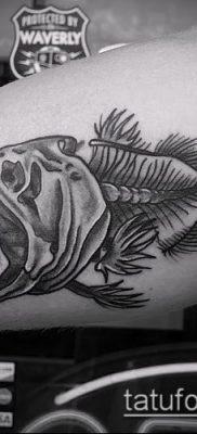 Фото тату скелет рыбы – пример рисунка – 30052017 – пример – 063 Fish skeleton tattoo