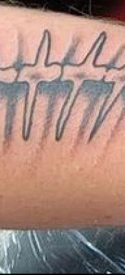 Фото тату скелет рыбы – пример рисунка – 30052017 – пример – 064 Fish skeleton tattoo