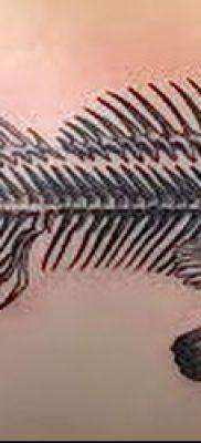 Фото тату скелет рыбы – пример рисунка – 30052017 – пример – 066 Fish skeleton tattoo