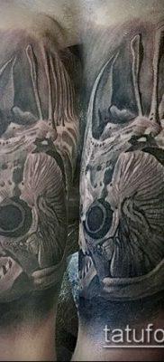 Фото тату скелет рыбы – пример рисунка – 30052017 – пример – 080 Fish skeleton tattoo