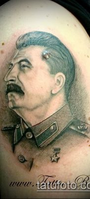Фото тату сталин – 20052017 – пример – 004 Stalin tattoo