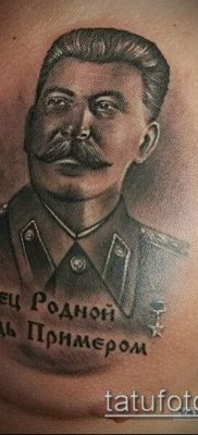 Фото тату сталин – 20052017 – пример – 009 Stalin tattoo