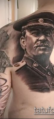 Фото тату сталин – 20052017 – пример – 012 Stalin tattoo
