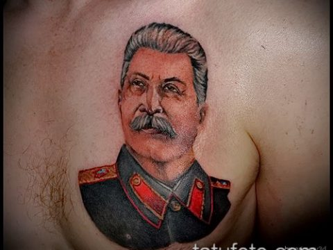 Фото тату сталин - 20052017 - пример - 035 Stalin tattoo