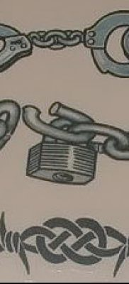 Фото тату цепь – пример рисунка – 30052017 – пример – 030 Tattoo chain