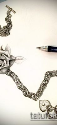 Фото тату цепь – пример рисунка – 30052017 – пример – 116 Tattoo chain