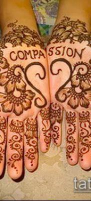 Фото уход за менди (tattoo of henna) (значение) – пример рисунка – 009 tatufoto.com