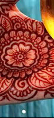 Фото уход за менди (tattoo of henna) (значение) – пример рисунка – 014 tatufoto.com
