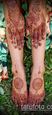 Фото уход за менди (tattoo of henna) (значение) – пример рисунка – 015 tatufoto.com