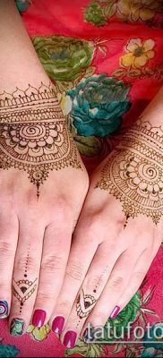 Фото уход за менди (tattoo of henna) (значение) – пример рисунка – 019 tatufoto.com