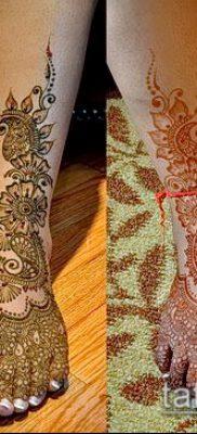 Фото уход за менди (tattoo of henna) (значение) – пример рисунка – 023 tatufoto.com