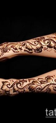 Фото уход за менди (tattoo of henna) (значение) – пример рисунка – 025 tatufoto.com
