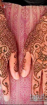 Фото уход за менди (tattoo of henna) (значение) – пример рисунка – 027 tatufoto.com