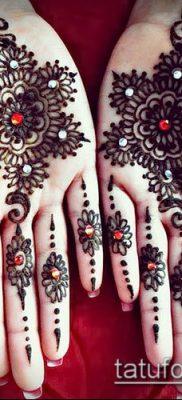 Фото уход за менди (tattoo of henna) (значение) – пример рисунка – 030 tatufoto.com