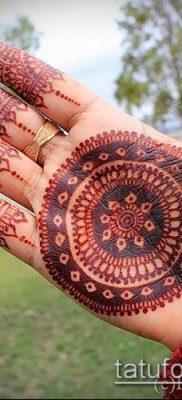 Фото уход за менди (tattoo of henna) (значение) – пример рисунка – 033 tatufoto.com