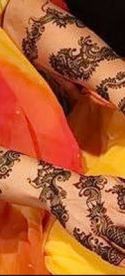 Фото уход за менди (tattoo of henna) (значение) – пример рисунка – 037 tatufoto.com