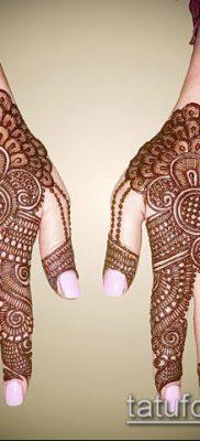 Фото уход за менди (tattoo of henna) (значение) – пример рисунка – 044 tatufoto.com