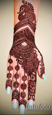 Фото уход за менди (tattoo of henna) (значение) – пример рисунка – 045 tatufoto.com