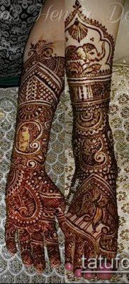 Фото уход за менди (tattoo of henna) (значение) – пример рисунка – 046 tatufoto.com