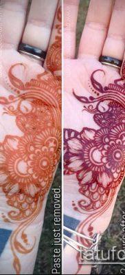 Фото уход за менди (tattoo of henna) (значение) – пример рисунка – 050 tatufoto.com