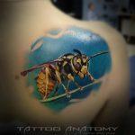 Анатомия тату - тату салон в Москве - фото примера работы мастера студии - пример - портфолио 2