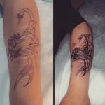 Дракон - тату салон Москва - портфолио - пример готовой работу тату 1