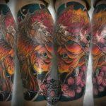 Империя ТАТУ - салон татуировки в Москве - фото готовой работы мастера салона - портфолио татуировок 2