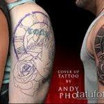 Фото Исправление и перекрытие старых тату - 12062017 - пример - 123 tattoo cover up