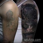 Фото Исправление и перекрытие старых тату - 12062017 - пример - 131 tattoo cover up
