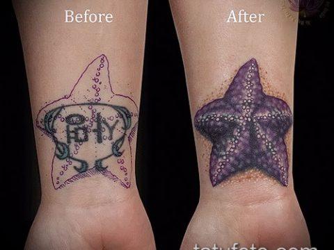 Фото Исправление и перекрытие старых тату - 12062017 - пример - 147 tattoo cover up
