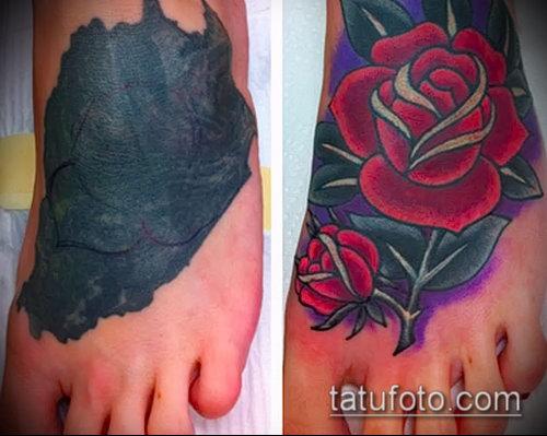 Фото Исправление и перекрытие старых тату - 12062017 - пример - 158 tattoo cover up