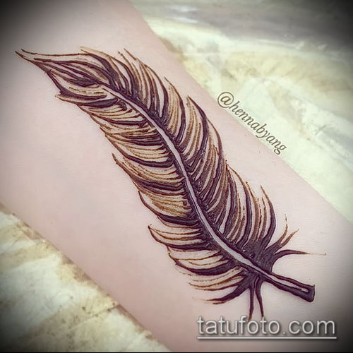 Фото Мехенди перо - 05062017 - пример - 058 Mehendi Feather