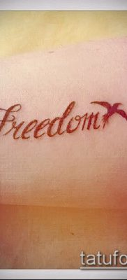 Фото Тату со значением свобода – 01062017 – пример – 012 Freedom tattoo