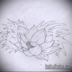 Фото Эскизы тату лотос - 19062017 - пример - 056 Sketches of tattoo lotus - tatufoto.com