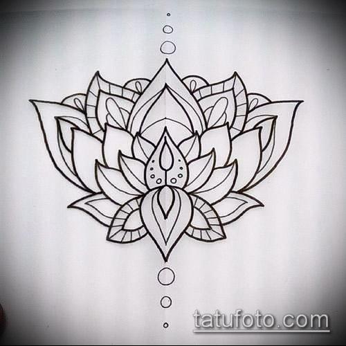 Lotus flower outline tattoos
