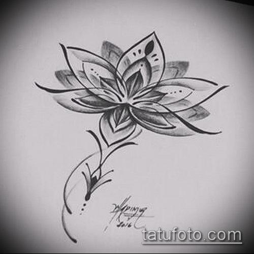 Татуировки лотос эскиз