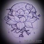 Фото Эскизы тату лотос - 19062017 - пример - 079 Sketches of tattoo lotus - tatufoto.com